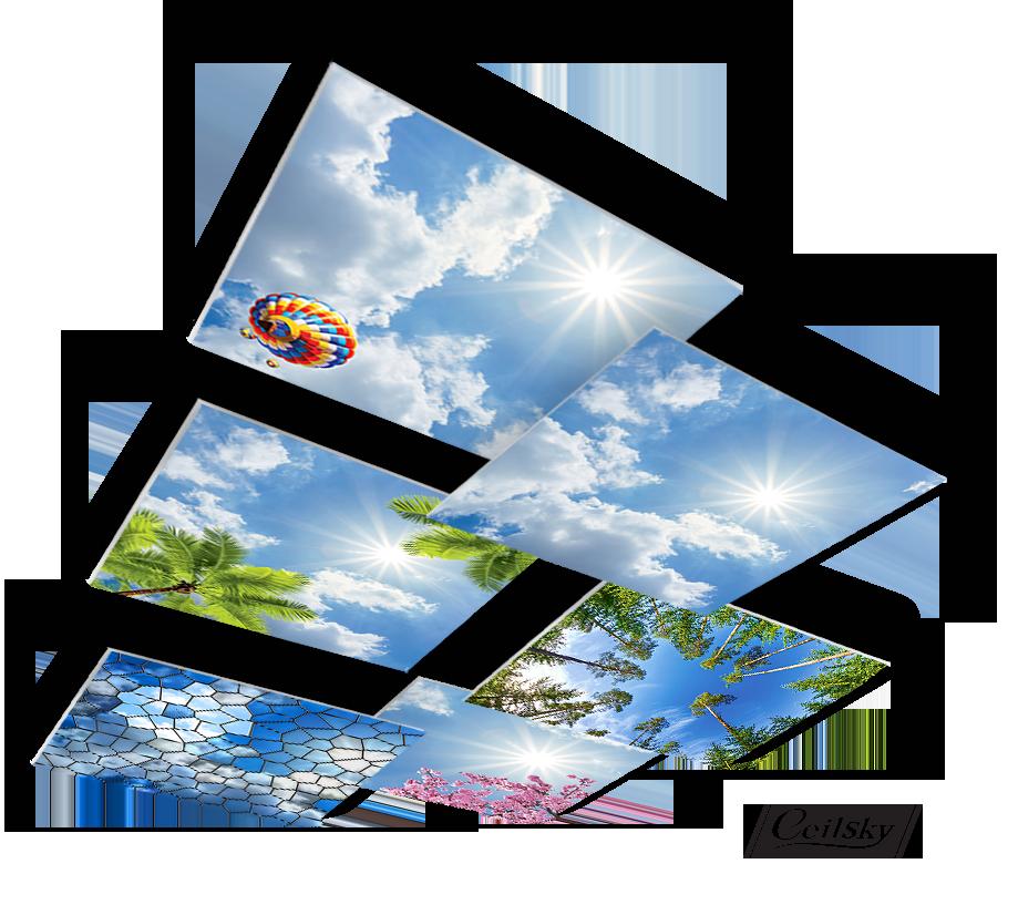 fotoplafond wolkenplafond