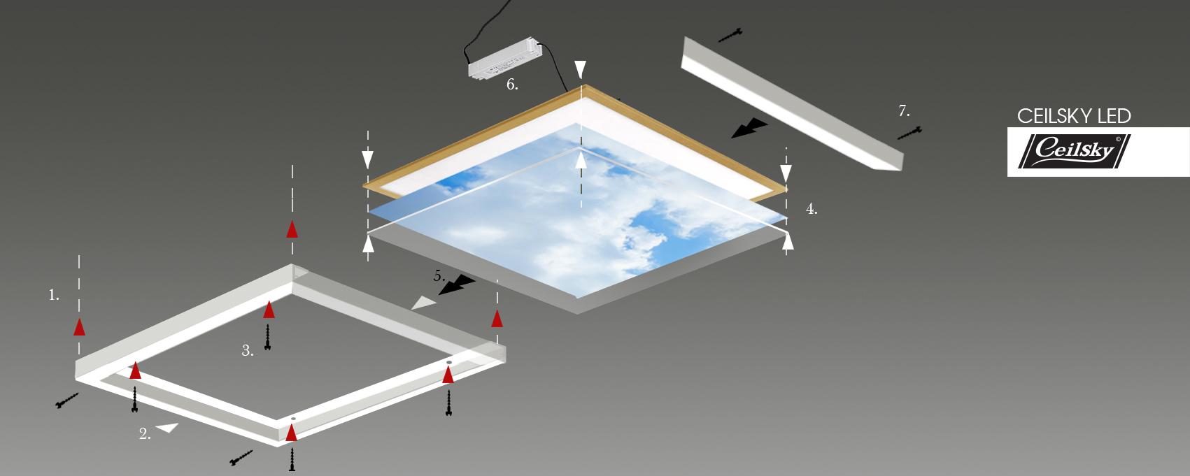 Systeemplafond fotoplafond Ceilsky